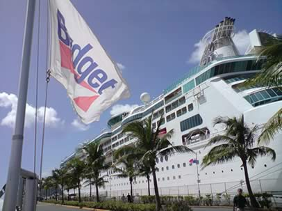 Budget at Cruise Ship Dock in Havensight, St, Thomas